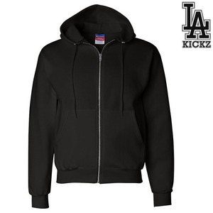 eco full zipup hooedie sweatshirts - Black