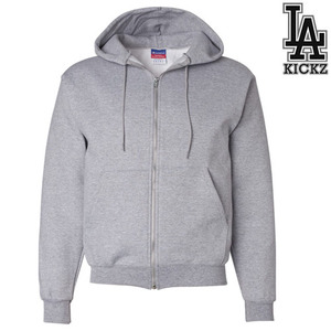 eco full zipup hooedie sweatshirts - Grey