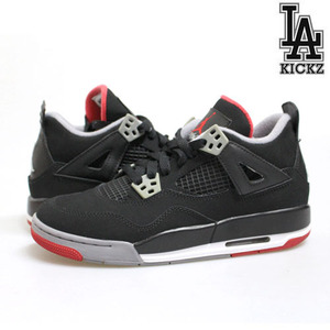 [USED][235] Air Jordan 4 Retro Bred 브레드 [384664-130]