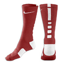 Nike Elite Basketball Crew Socks -Red/Wht-