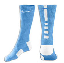 Nike Elite Basketball Crew Socks -Babyblue/Wht-