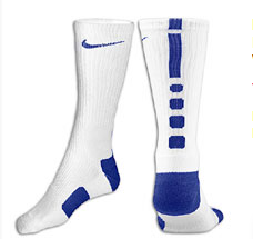 Nike Elite Basketball Crew Socks -Wht/Blue-
