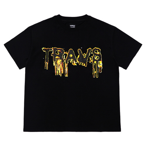 [TRAVS] TRAVS BLOOD T-SHIRTS - BLACK