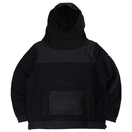 [TRAVS] FACE MASK HOODIE - BLACK