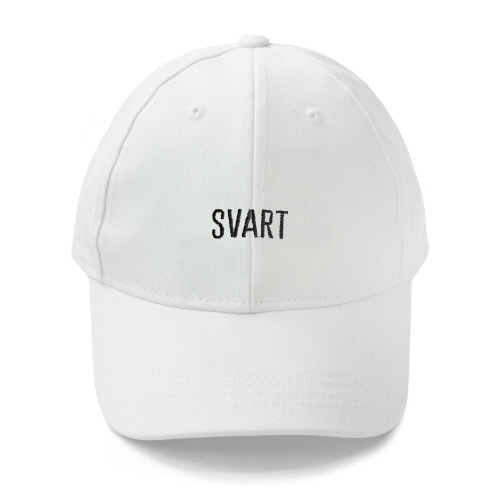 [TRAVS] SVART LOGO CAP - WHITE/BLACK