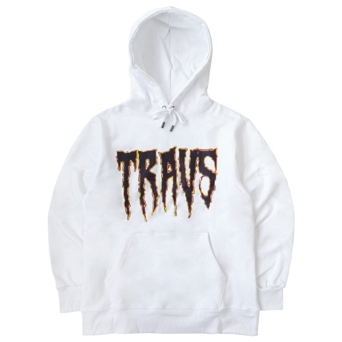 [TRAVS] TRAVS RED NIGHT HOODIE - WHITE