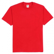 (1301)Adult Short Sleeve Tee - Red