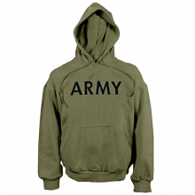 Army Hooded Pullover - Olive