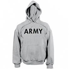 Army Hooded Pullover - Grey