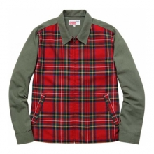 Cdg Plaid Work Jacket - Olive