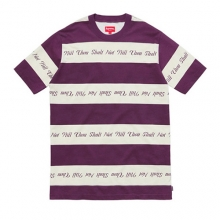 Thou Shall Not Striped Top - Purple