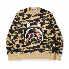 Wind Stopper 1st Camo Shark Crewneck - Yellow