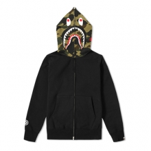 Shark Full Zip Hoodie - Black