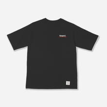 Respect Half Sleeve T-Shirt - Black