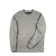 [Piece Worker]Vintage heavy sweat shirt side zipper - Khaki Grey
