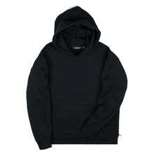 [Piece Worker]Heavy hoodie - Side zipper Black