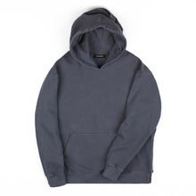 [Piece Worker]Vintage Heavy hoodie - Side zipper Charcoal