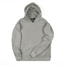 [Piece Worker]Vintage Heavy hoodie Side zipper - Khaki Grey