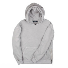 [Piece Worker]Vintage Heavy hoodie - Side zipper Light Khaki