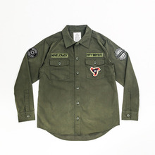[Nivelcrack]Nivelcrack x City Boys FC Military Shirt - Khaki