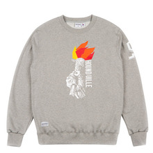(50%세일)[HOUNDVILLE] Lazy Slow Crewneck - Grey