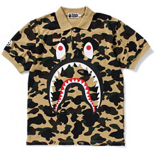 [Bape] 1st Camo Shark Polo - Yellow