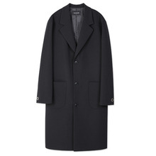 [Andersson Bell] UNISEX SANTOS OVERSIZED COAT awa056 - Black
