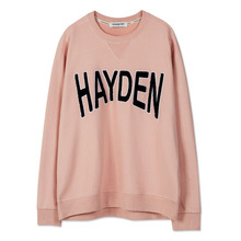 [Andersson Bell] UNISEX APPLIQUE NAME SWEATSHIRT atb101 - Pink