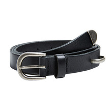 [Andersson Bell] UNISEX SADDLE LEATHER BELT aaa036 - Black