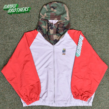 [Banktwobrothers] Btb Bad Trip Wb Jacket - Red/Gray/Camo