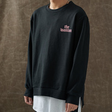 [WANTON] (30%OFF) BASIC LOGO SWEATSHIRTS - BLACK