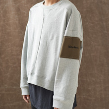 [WANTON] (30%OFF) OVERSIZE PATCH SWEATSHIRTS - GRAY