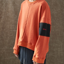 [WANTON] (30%OFF) OVERSIZE PATCH SWEATSHIRTS - ORANGE
