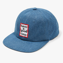 [Have a good time] Frame 6 Panel Cap - Denim