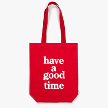 [Have a good time] Logo Tote Bag - Red