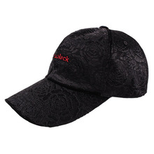 [Vantablack]Black Rose Velvet Cap 889 - Black