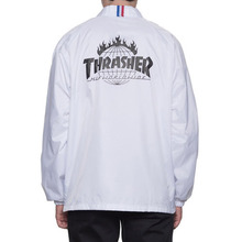 [HUF x Thrasher] TDS Coach's Jacket - White