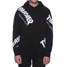 [HUF x Thrasher] TDS Allover Hood - Black