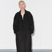 [AJOBYAJO] [20% 할인] Oversized Macintosh Coat - Black