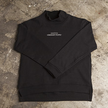 [WANTON] (30%OFF) Halfneck Sweatshirts - Black