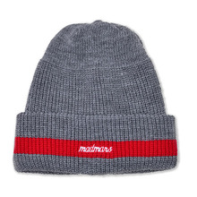 [10%할인][MADMARS]LOGO EMBROIDERED BEANIE-GRAY