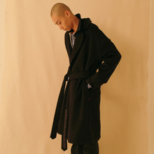 [ATAR] psln robe coat black - navy