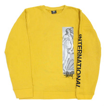 [Stussy] (10%세일) Birth Of Venus Crewneck - Mustard