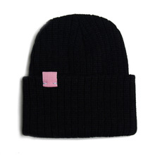 [RUSH OFF] Unisex Newness Pink Label Basic Beanie