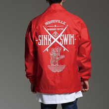 [HOUNDVILLE] 40%할인 SINK SWIM coach jacket red