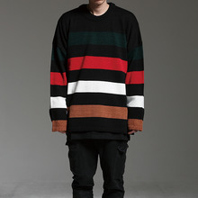 [HOUNDVILLE] 40%할인 OVERFIT STRIPE KNIT-T black