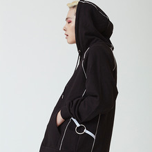 [20%할인][OY] PIPING HOODY ZIP - BL&WH
