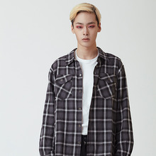 [20%할인][OY] CHECK SHIRTS - BLACK