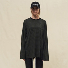 [SLEAZY CORNER] LONG SLEEVE-STRIPE GREEN