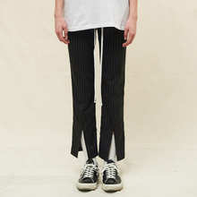 [SLEAZY CORNER] OPEN SLIM PANTS-STRIPE BLACK